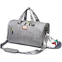Kenox Sports Gym Duffle Bag with Shoes Compartment (Grey)