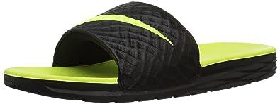 hot sales aab38 a0cbc Nike Men s Benassi Solarsoft Slide Sandal, Black Volt, 15 D(M)