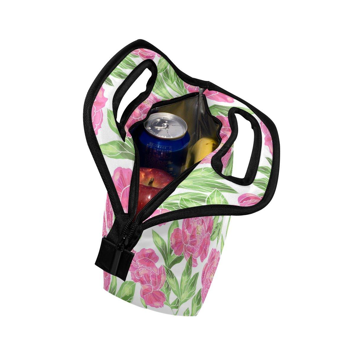 Ahomy Roses - Bolsa de almuerzo para picnic o escuela, con cremallera, elegante bolso para mujeres y niños: Amazon.es: Hogar