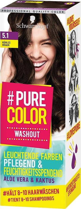 Schwarzkopf #Pure Color Washout 5.1 - Tinte para el cabello (60 ml), color marrón frío
