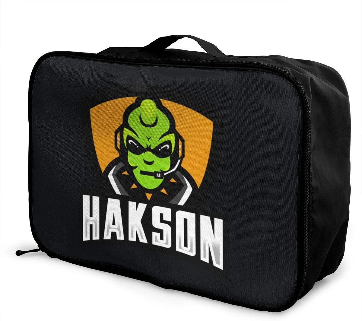 Gaming Alien LOGO Travel Duffel Bag Lightweight Large Capacity Portable Luggage Bag Weekender Carry-on Tote