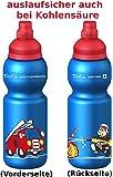 Fizzii Niños 330plástico botella caño seguro en carbón Acid, sin sustancias nocivas, apto para lavavajillas, Bomberos, 330ml