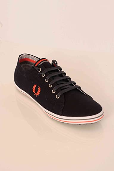 Fred Perry Kingston Twill Tipped Navy Blue 42  Amazon.co.uk  Shoes ... 5fb4f04d654