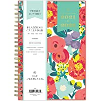 """Day Designer for Blue Sky 2021-2022 Academic Year Weekly & Monthly Planner, 5"""" x 8"""", Frosted Flexible Cover, Wirebound…"""