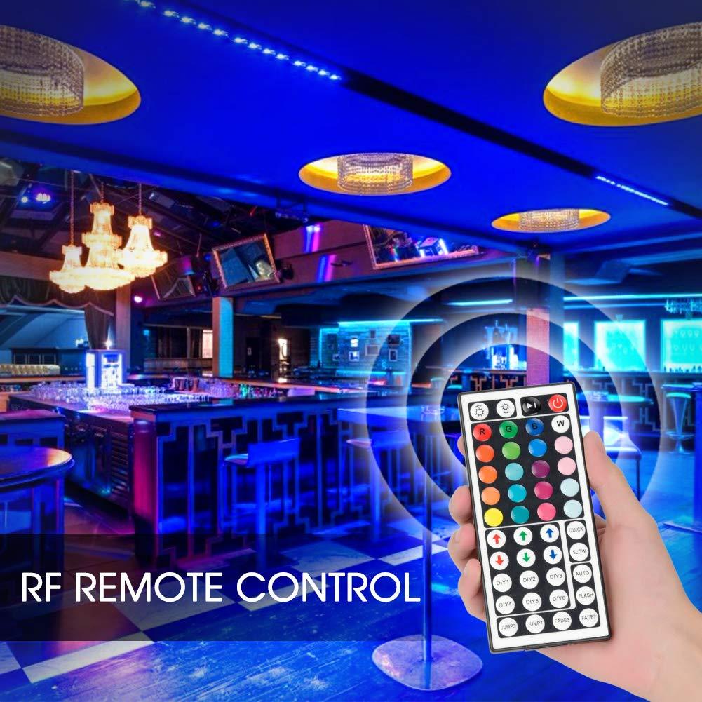 LED Streifen Licht 10M RGB LED Strip 5050 SMD 300 LEDs Lichterkette IP65 Wasserdicht Lichtband mit 44-Tasten IR Fernbedienung Selbstklebend Innen au/ßen Beleuchtung Full Kit 10M