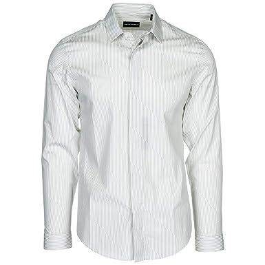 12475ea13c96 Emporio Armani Chemise Homme Grigio 40 cm  Amazon.fr  Vêtements et  accessoires