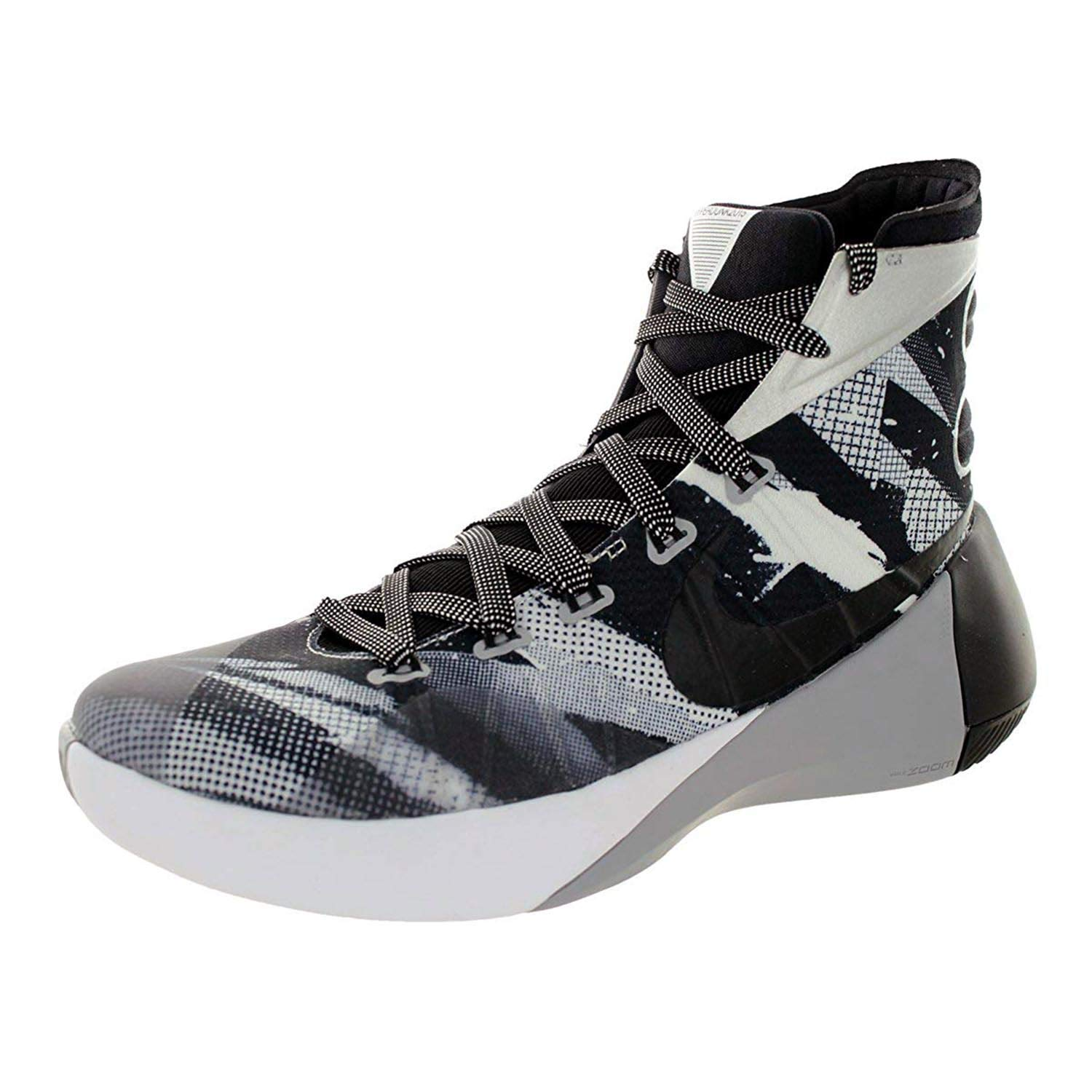 reputable site 02036 eddce Galleon - NIKE Men s Hyperdunk 2015 Premium Basketball Shoe White Wolf Grey  Black Size 9 M US