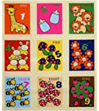 Lovely Fabric Panel for Nursery/Children/Babies Early Learning Toy Fabric Soft Book/Cubes/Blocks Wall Hanging Play Mat --- Colourful Animals Alphabets Letters Numbers