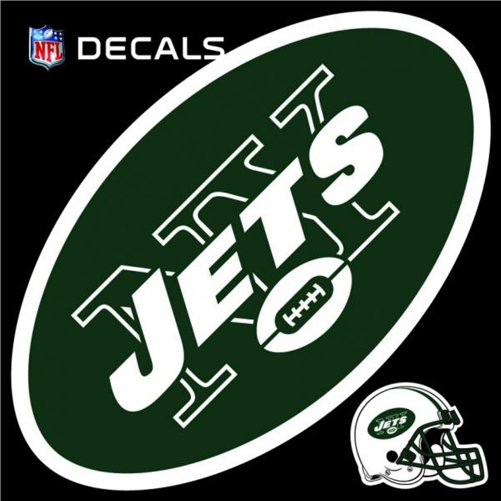 Stockdale Technologies New York Jets 12'' LOGO Decal with Bonus Decal Vinyl Reusable Auto Home Football