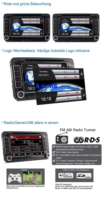 A Sure 7 Inch DVD GPS Car Radio Double Din Bluetooth: Amazon.co.uk ...