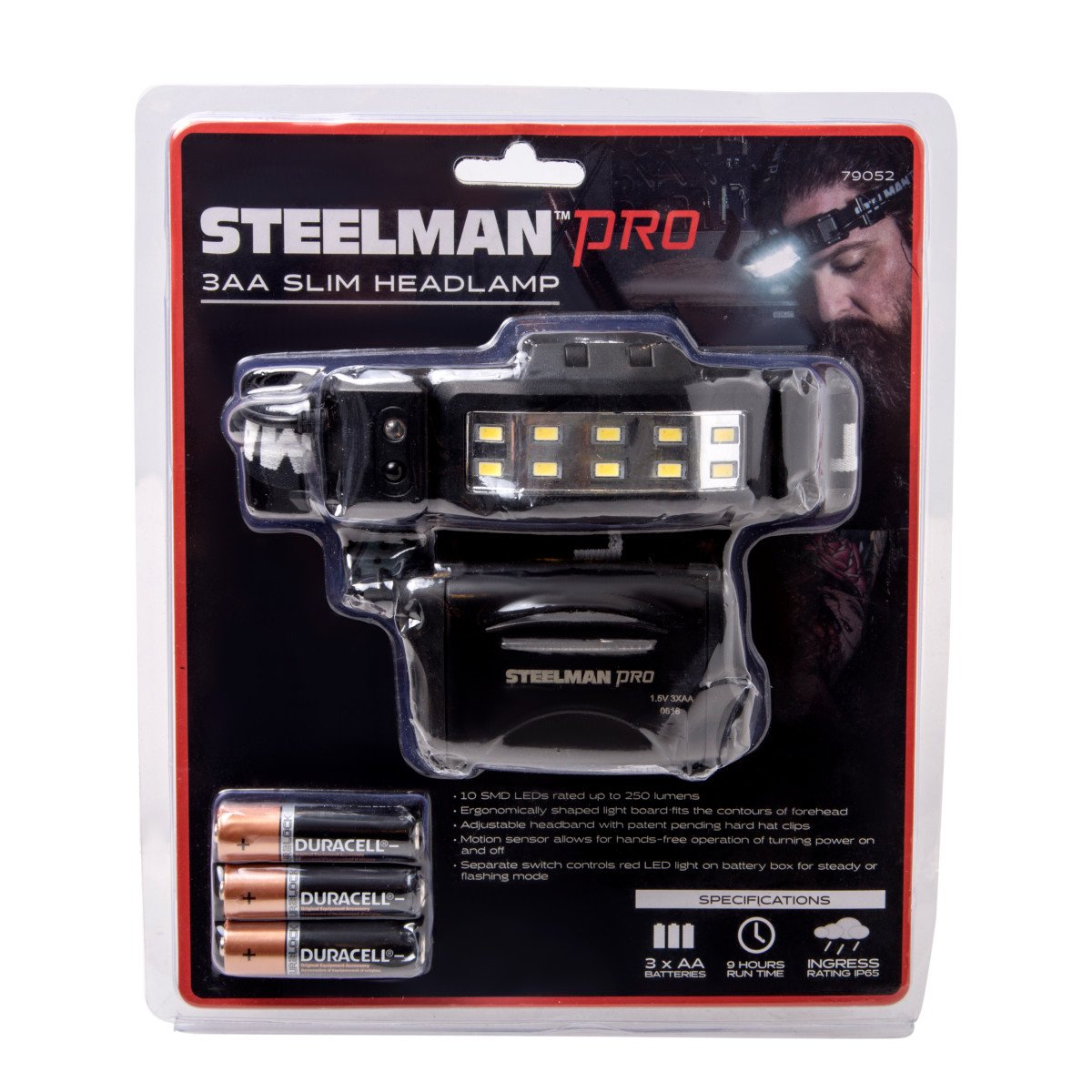 STEELMAN PRO 79052 Slim Profile LED Headlamp with Rear Flasher and 3 AA Batteries by Steelman Pro (Image #6)