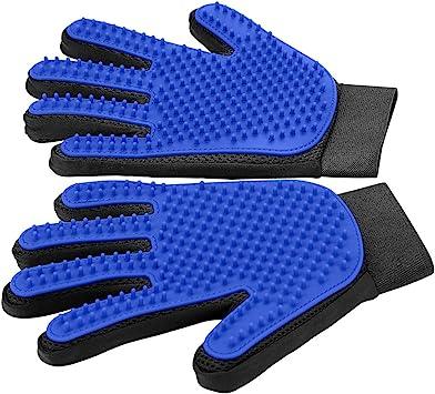 Pet Grooming Glove - Gentle Deshedding Glove