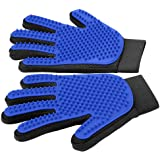 [Upgrade Version] Pet Grooming Glove - Gentle Deshedding Brush Glove - Efficient Pet Hair Remover Mitt - Enhanced Five…