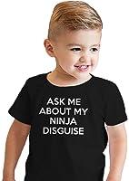 Toddler Ask Me About My Ninja Disguise T Shirt Cool Karate Face Mask Flip Tee