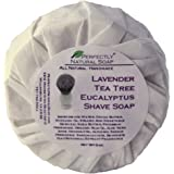 Lavender Eucalyptus Tea Tree All Natural Artisan Shave Soap, 3 oz