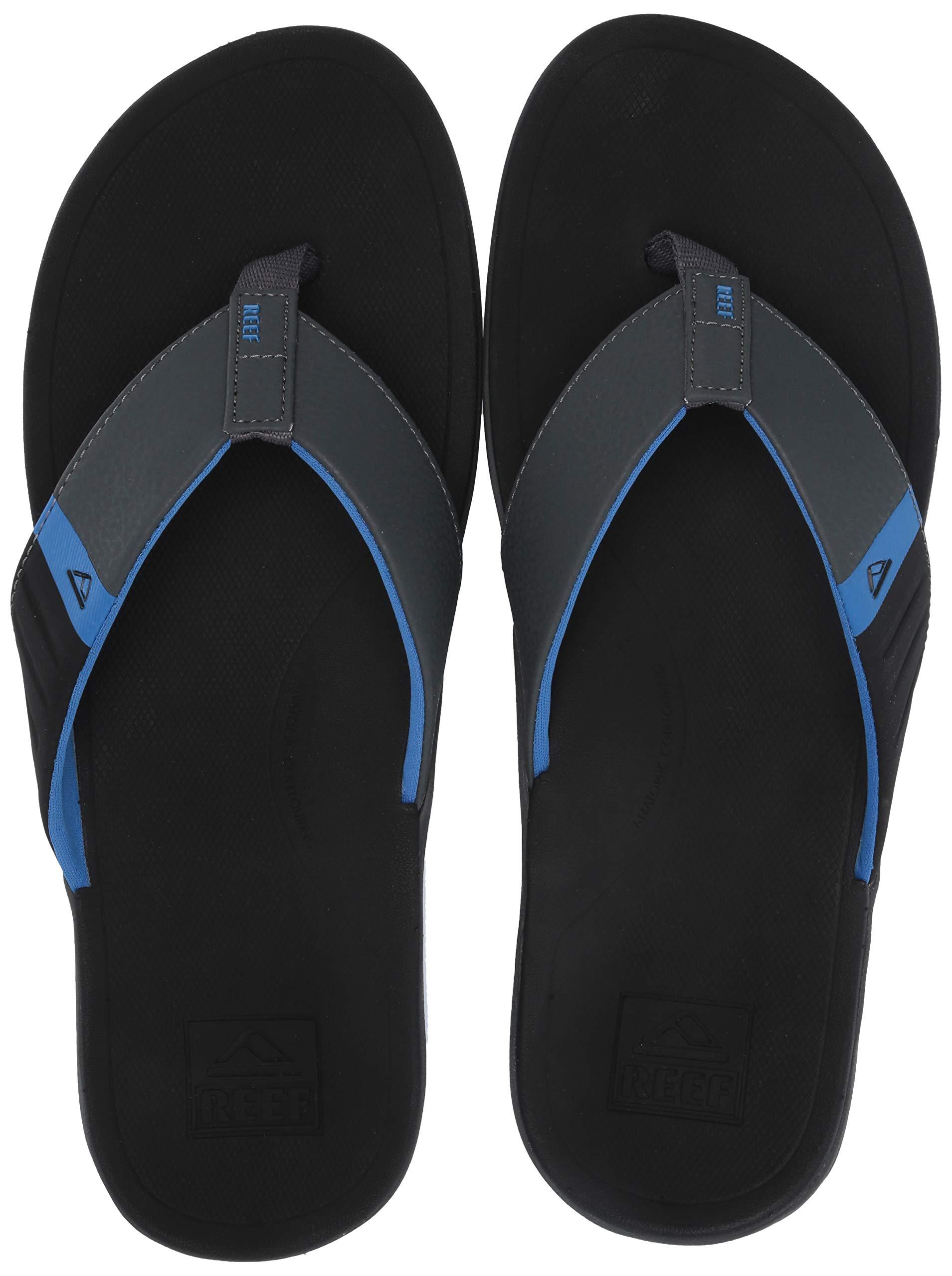 Reef Men's Ortho-Bounce Sport Sandal, Black/Blue, 110 M US