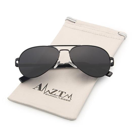 b08790e2611 AMZTM Classic Aviator Polarized Sunglasses for Kids Metal Frame Mirror  Reflective REVO Lens Outdoor Children Sports