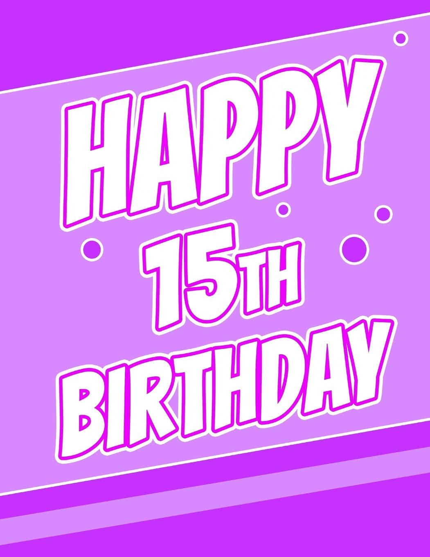 Happy 15th Birthday Discreet Internet Website Password Organizer