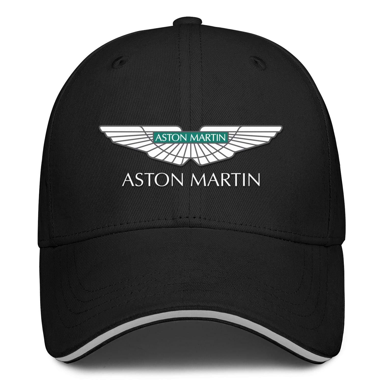 Mens Womens Washed Baseball Cap Camo Hip Hop Hat Fit Heart Wolf Aston-Martin-Logo