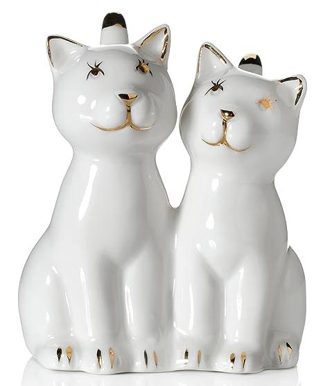Amazon.com: Soporte de anillos, diseño de gato, dos gatos ...