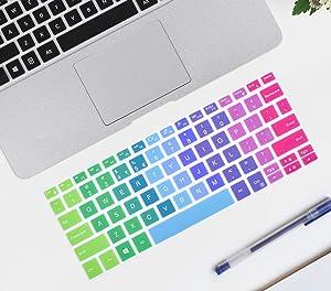 ikammo Keyboard Cover Compatible With Dell Inspiron 14 inch 5482/5481 & DELL XPS 15 9570 9560 9550 & Dell Inspiron 13 5368 7368 i5368 i7368 &Dell Inspiron 15 7568 7569 i7568 i7569 5568 i5568 (Rainbow)