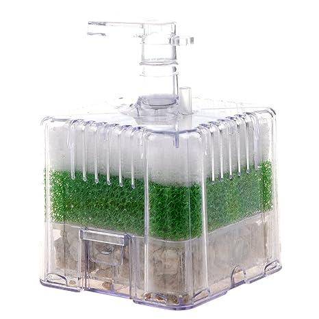 TOOGOO Nuevo XY-2011 Filtro de esponja de esquina bioquimico impulsado por el aire para