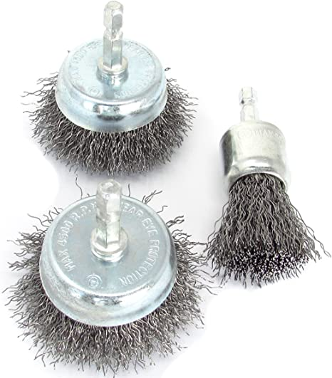 WIRE BRUSH ASSORTED KIT Cleaner Kit All in 1 HAND// WHEEL// CUP BRUSH