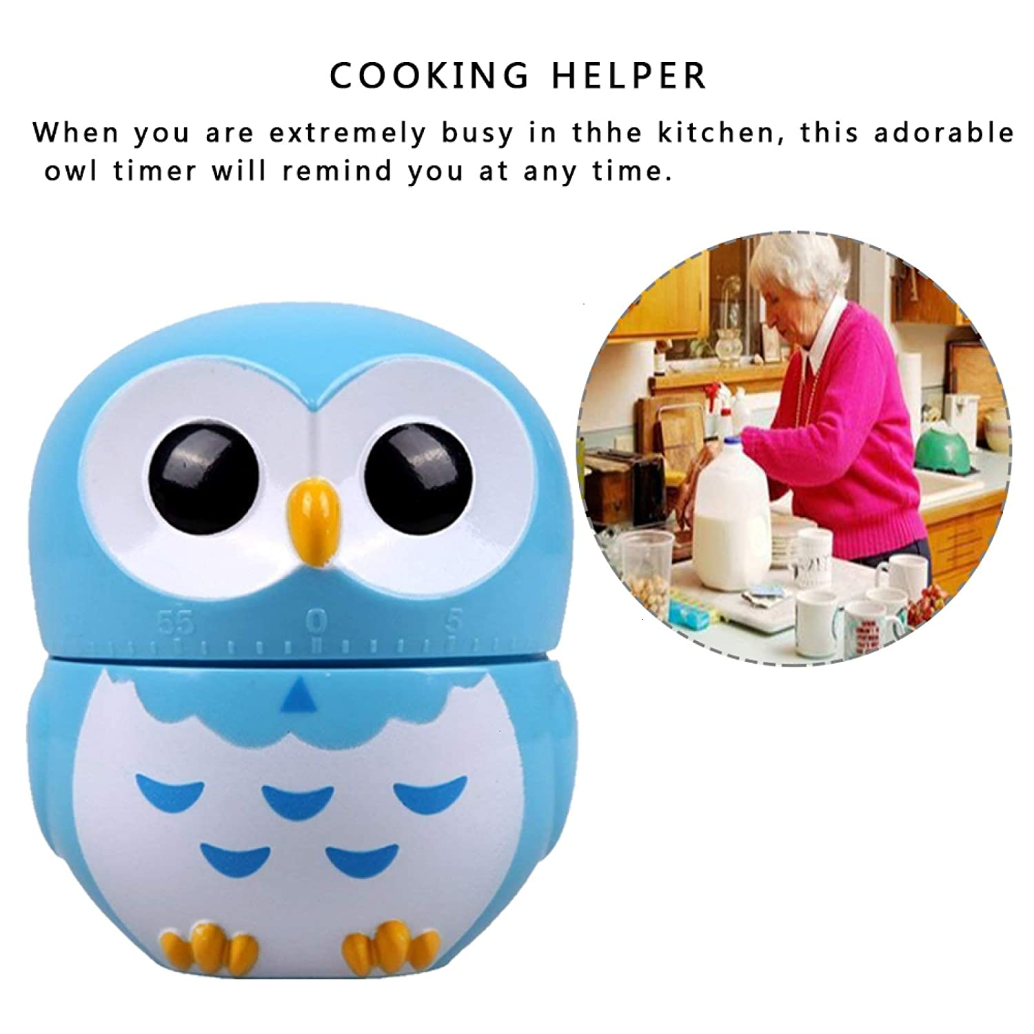 Amazon.com: Timer, Cartoon Owl Shaped Kitchen Cooking Baking Timers ...