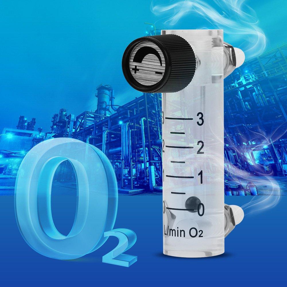 Gasdurchflussmesser,Gas Flowmeter LZQ-2 Durchflussmesser 0-3LPM Durchflussmesser mit Regelventil f/ür Sauerstoff//Luft//Gas usw,Druck/≤ 0,6 MPa,mit 8 mm Widerhaken