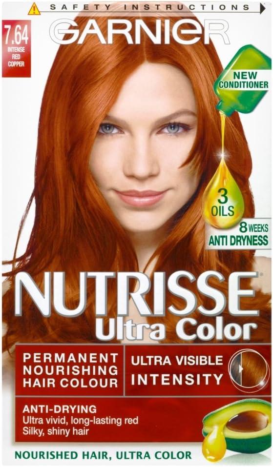 Garnier Nutrisse Ultra color permanente pelo color 7.64 rojo ...