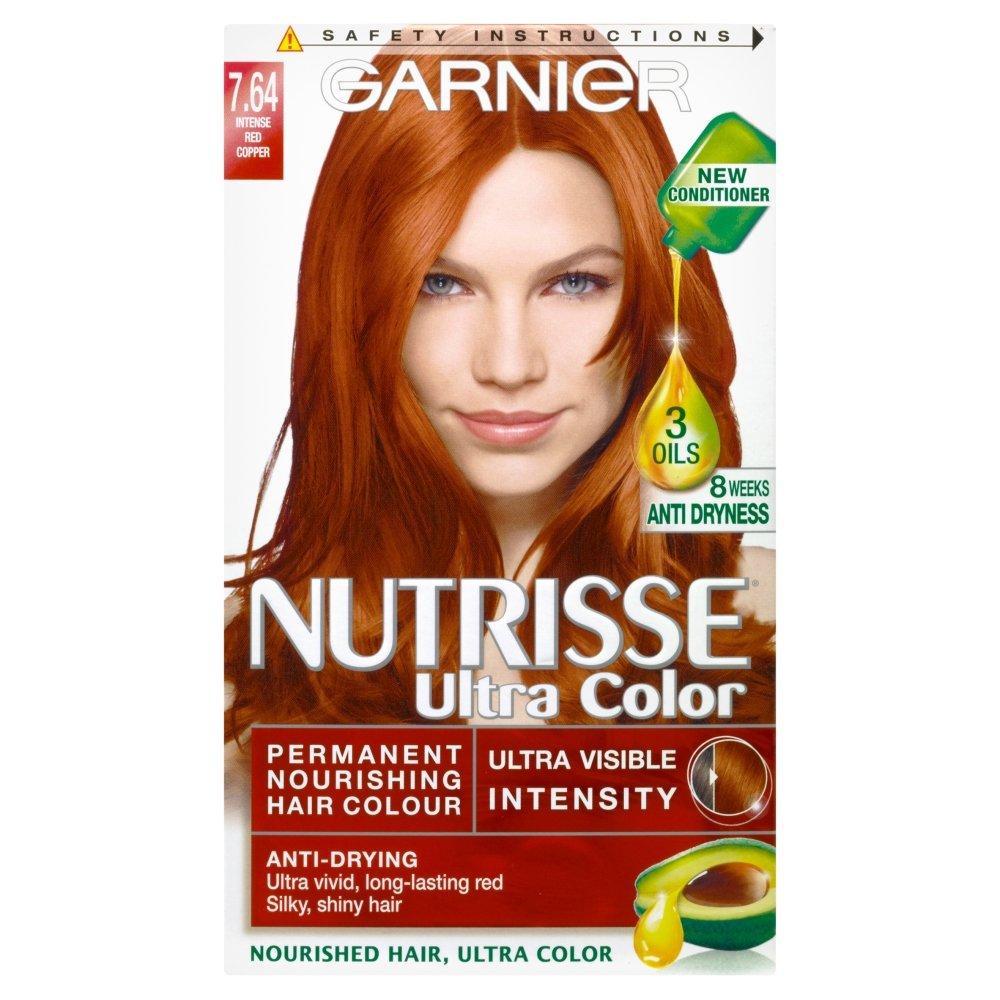 Garnier nutrisse ultra color permanent hair colour 764 red copper garnier nutrisse ultra color permanent hair colour 764 red copper packaging may vary amazon beauty urmus Choice Image