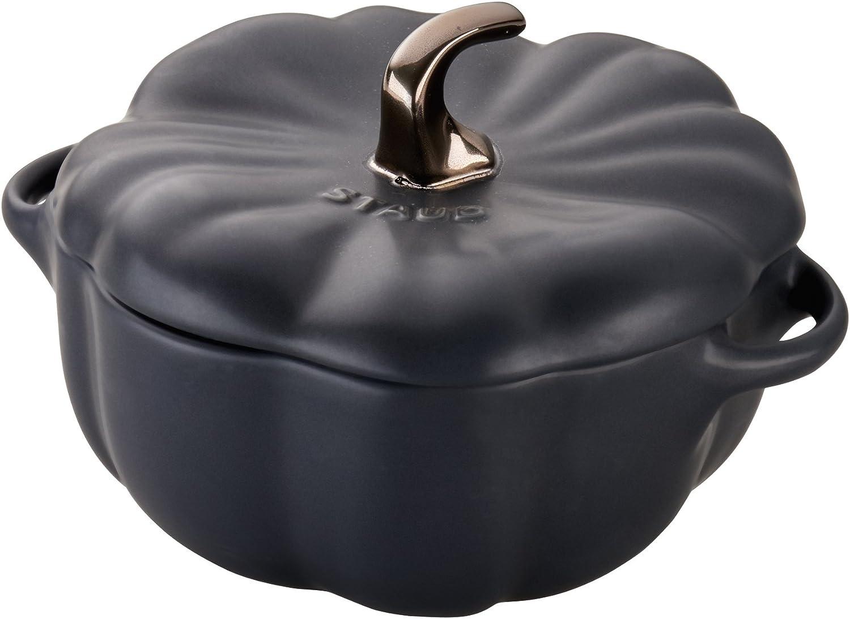 Staub 40508-549 Ceramics Pumpkin Cocotte, 24-oz, Matte Black