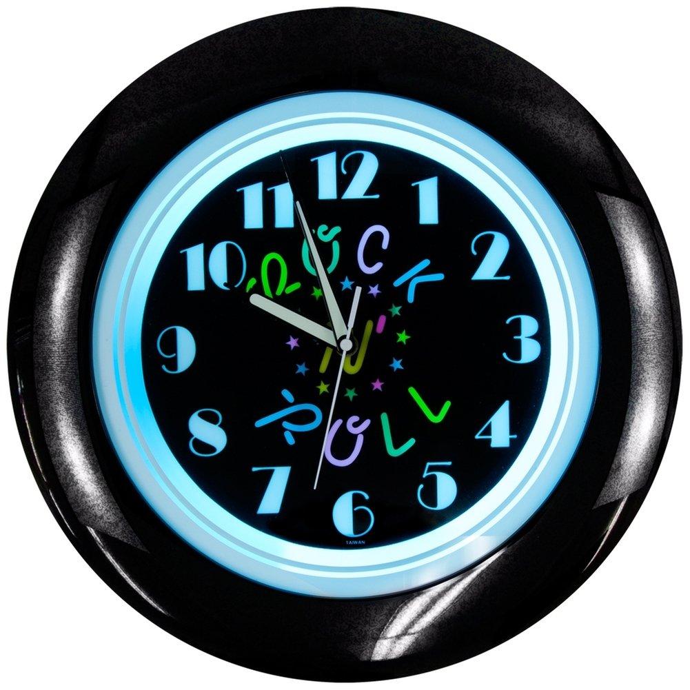 Amazon rock n roll light up clock home kitchen aloadofball Images
