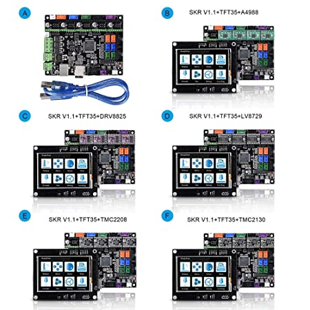 Volwco Tablero de control de la impresora 3D BIGTREETECH SKR V1.1 ...