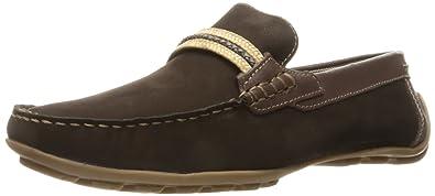 Steve Madden Men's Zoomed Slip-on Loafer, Brown Nubuck, ...