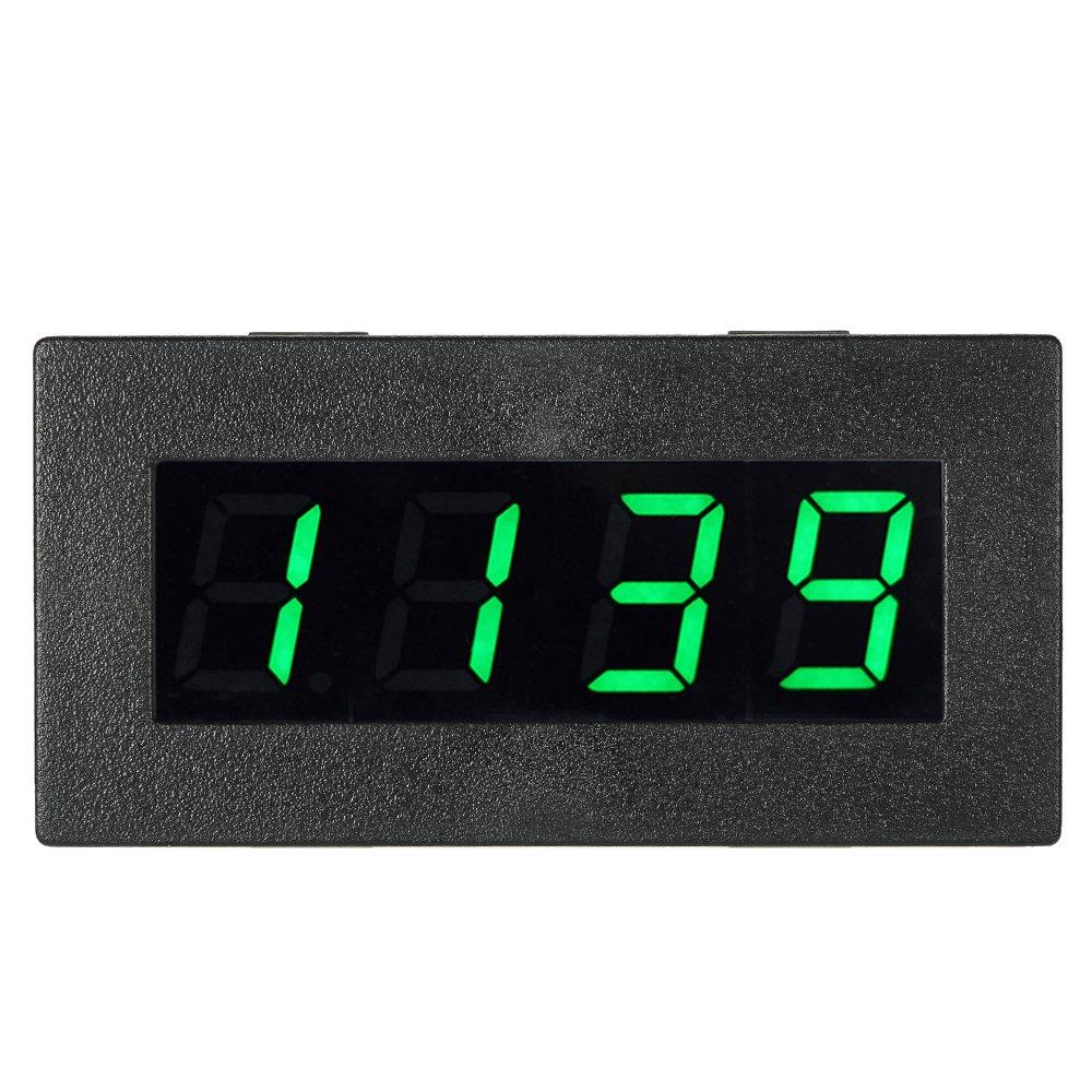 KKmoon 0,56 pouce Tachymètre Numérique de Haute Précision avec LED à 4 Chiffres, Compteur de Vitesse du Moteur de Voiture, Compte-tours RPM Mesure Testeur 5-9999R / M DC 8-15V--VERT