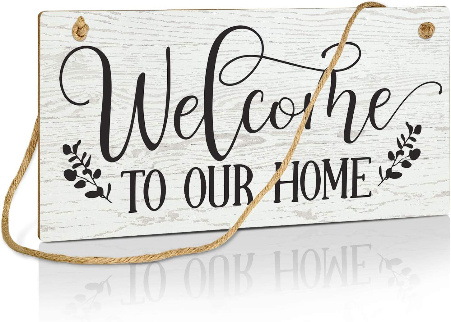 Putuo Decor Welcome to Our Home Sign, 10x5 Inch Hanging Plaque for Door, Wall - Welcome to Our Home 1
