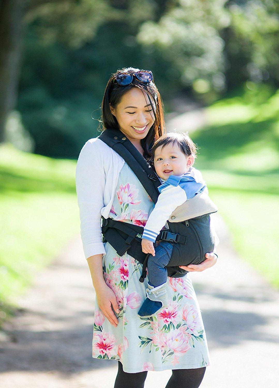 universelle Einheitsgr/ö/ße Babytragetuch f/ür alle Jahreszeiten Gray Neugeborene, S/äuglinge /& Kleinkinder 360 ergonomische Babytrage 6 Positionen leichtes Stillen
