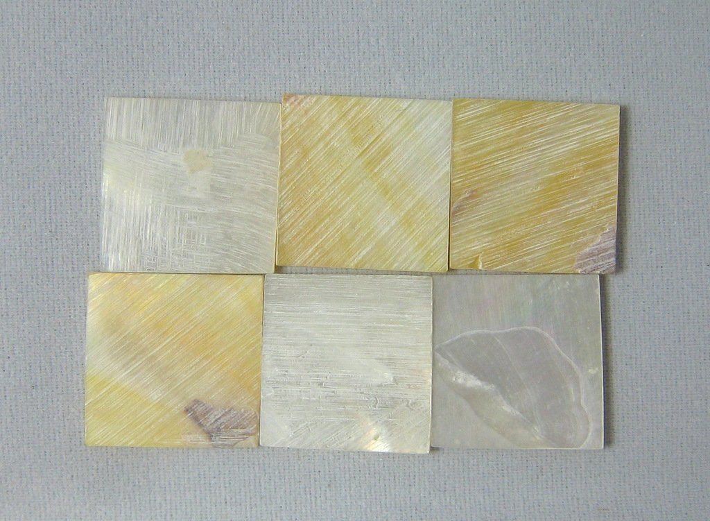 150 Pieces 1.5cm(0.59'') Square Sea White Mother of Pearl MOP Shell. One Side Polished. For Mosaic Art Tiles, Musical Instrument Inlay. by Unknown (Image #4)