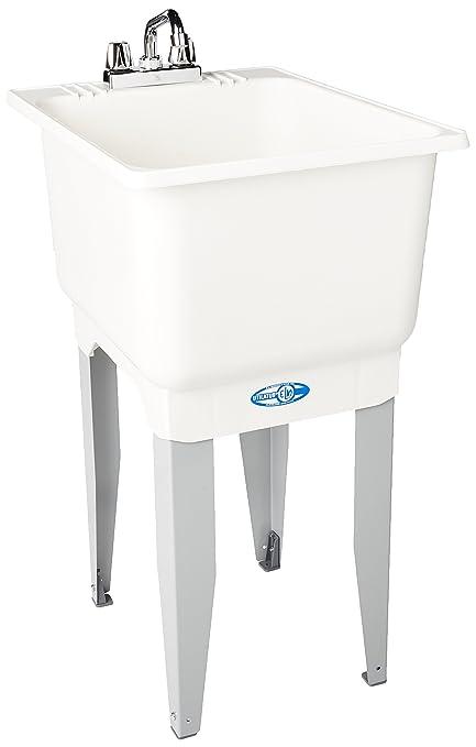 Mustee 12C Plastic Floor Mount Laundry Tub, 18u0026quot; X 23.5u0026quot;, ...