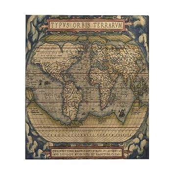 Amazon.com: InterestPrint Antique Map of The World All ...