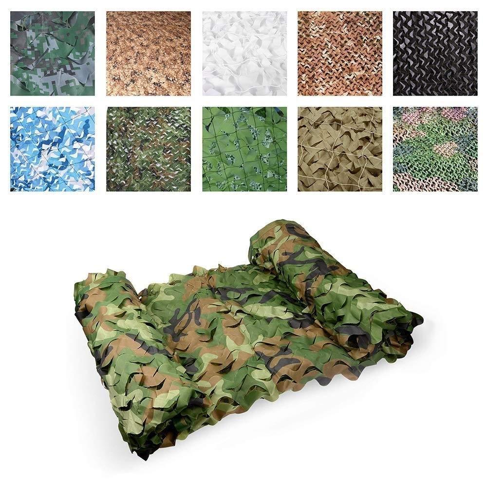 45M(13.116.4ft) Filet de Camouflage Camouflage Chasse Filet Filet Cacher Armée Militaire Oxford Tissu Camo Filet Enfants Photographie Militaire en Plein air