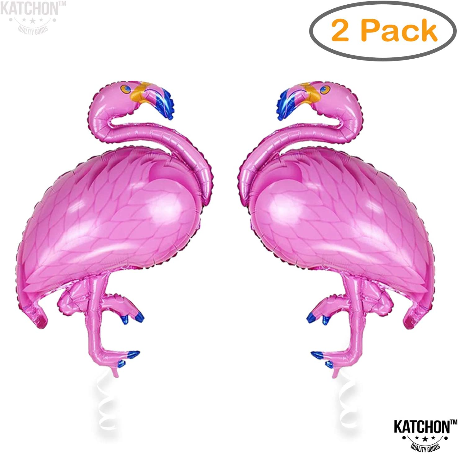2 Giant Flamingo Helium Balloon - Pack of 2 | Pink Flamingo Mylar Foil Balloon | Flamingo Party Supplies | Flamingo Birthday Party | Flamingo Decor for Bridal and Baby Shower