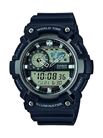 bef1f6f7dfe Montre Mixte Casio Collection AEQ-200W-1AVEF  Amazon.fr  Montres