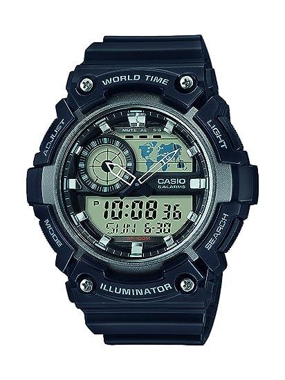 Casio Reloj Analógico-Digital para Hombre de Cuarzo con Correa en Resina AEQ-200W-1AVEF: Amazon.es: Relojes