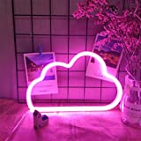 Pink Cloud Neon Light Cloud Neon Night Lamps LED Neon Light Signs Battery or USB Powered Neon Night Lights Pink Cloud…