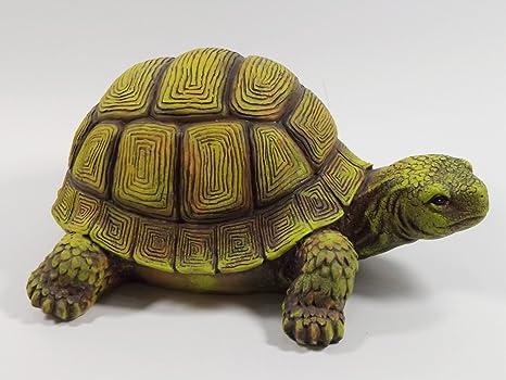 KLP País De Tortuga Tortuga Decoración Tortuga Jardín Animales Escultura Figura Estanque: Amazon.es: Juguetes y juegos