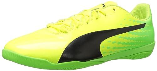 Scarpe da calcio uomo Evospeed 17.4 IT, sicurezza Geco nero-verde Puma giallo, 10 M US