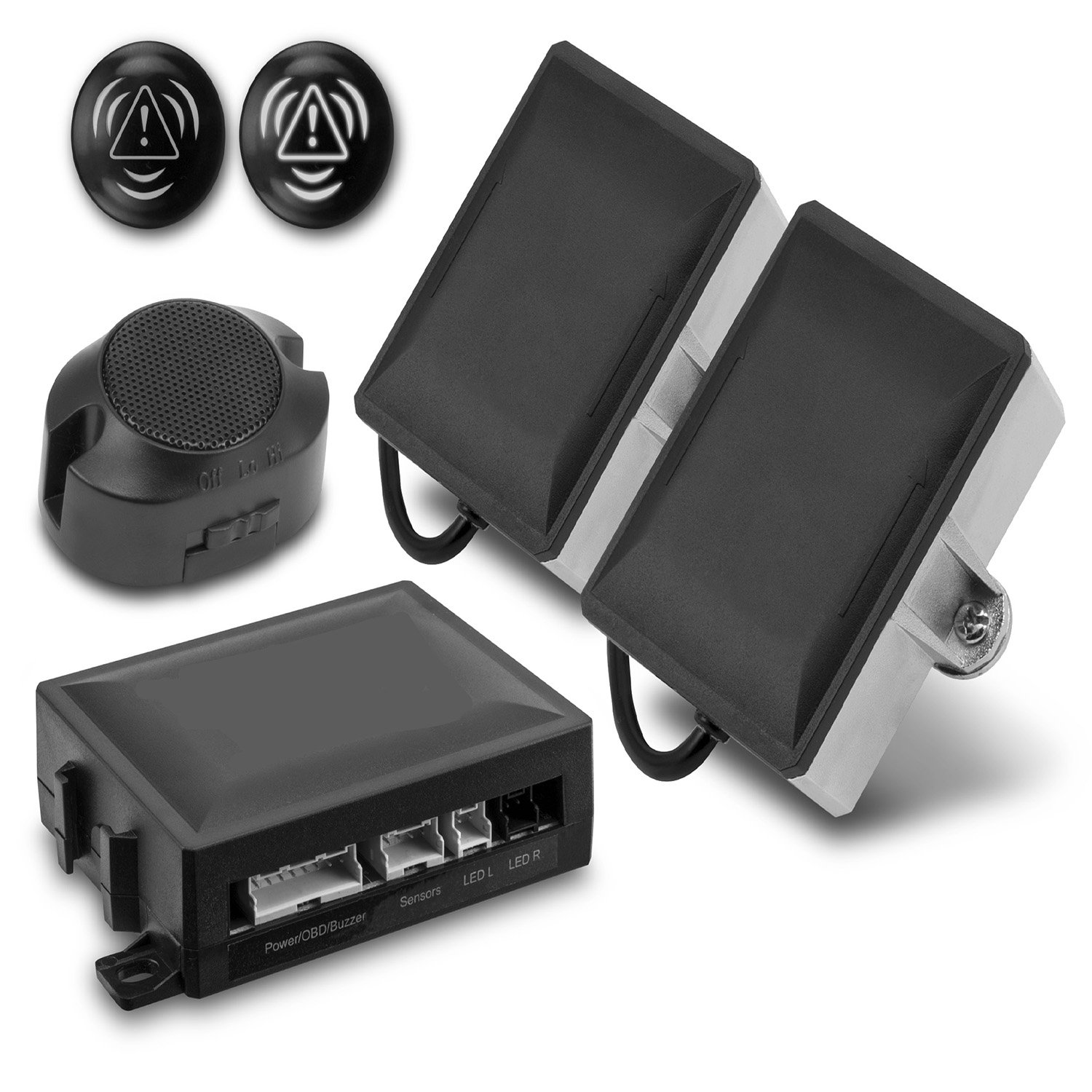 Novosonics NS-BSM Microwave Blind Spot Anti-Collision Detection and Warning kit. Includes Two Blind Spot Sensors and Two LED Warning Indicators. 3 Year Warranty