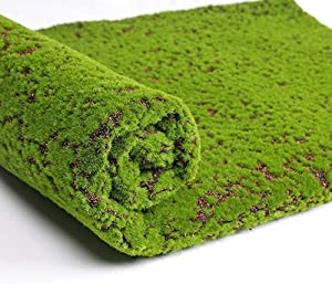 Julvie Artificial Grass Turf, Fake Moss Grass Rug, Outdoor Carpet Simulation Plants Decor Green Moss Lawn Landscape Synthetic Grass for Home Shopwindow Wall Festival Wedding(39.37x39.37 inch) (2)